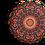 Thumbnail: Round Orange butterfly mandala cushion - reversible