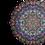 Thumbnail: Purple Butterfly mandala round Velvet cushion - reversible