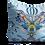 Thumbnail: Blue square Kingfisher cushion 45cm