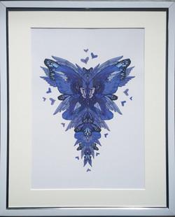 Blue butterfliy art print