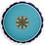Thumbnail: Blue bee mandala velvet cushion - reversible