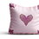 Thumbnail: Pink flamingo wings square Velvet cushion - 45cm