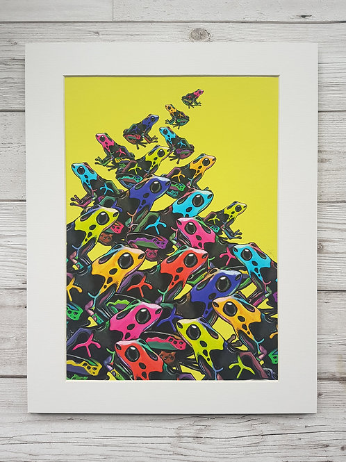 Group of Frogs in yellow