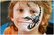 Scorpion - Artycat face painting at Chelwest