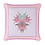 Thumbnail: Pink flamingo square with feathers velvet cushion - 45cm