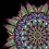 Thumbnail: Large black wings Mandala Art Print