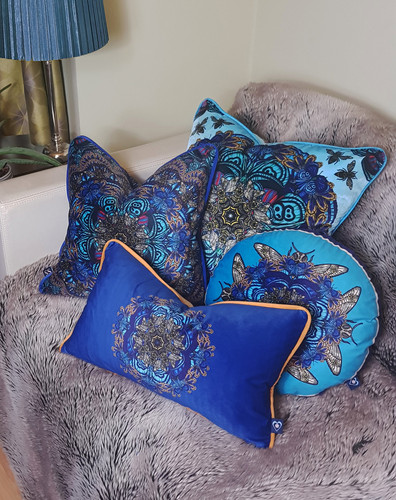 Bee mandala cushion range