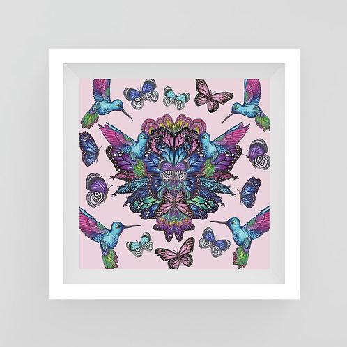 Small Metallic hummingbird butterflies Art Print