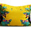 Thumbnail: Jungle animals scene in yellow - velvet cushion