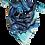 Thumbnail: Blue butterfly garden silk scarf