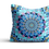 Thumbnail: Under the sea yellow fish mandala velvet cushion