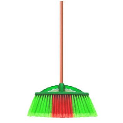 Soft Nylon Broom w/ Handle (Green)