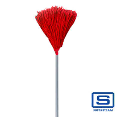Superstream Janitor Color Mop w/ Long Handle - Red