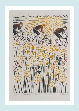Sun, Flowers & Cyclists