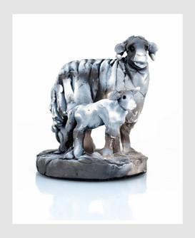 Ewe with Lamb 2