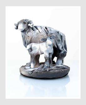 Ewe with Lamb 1