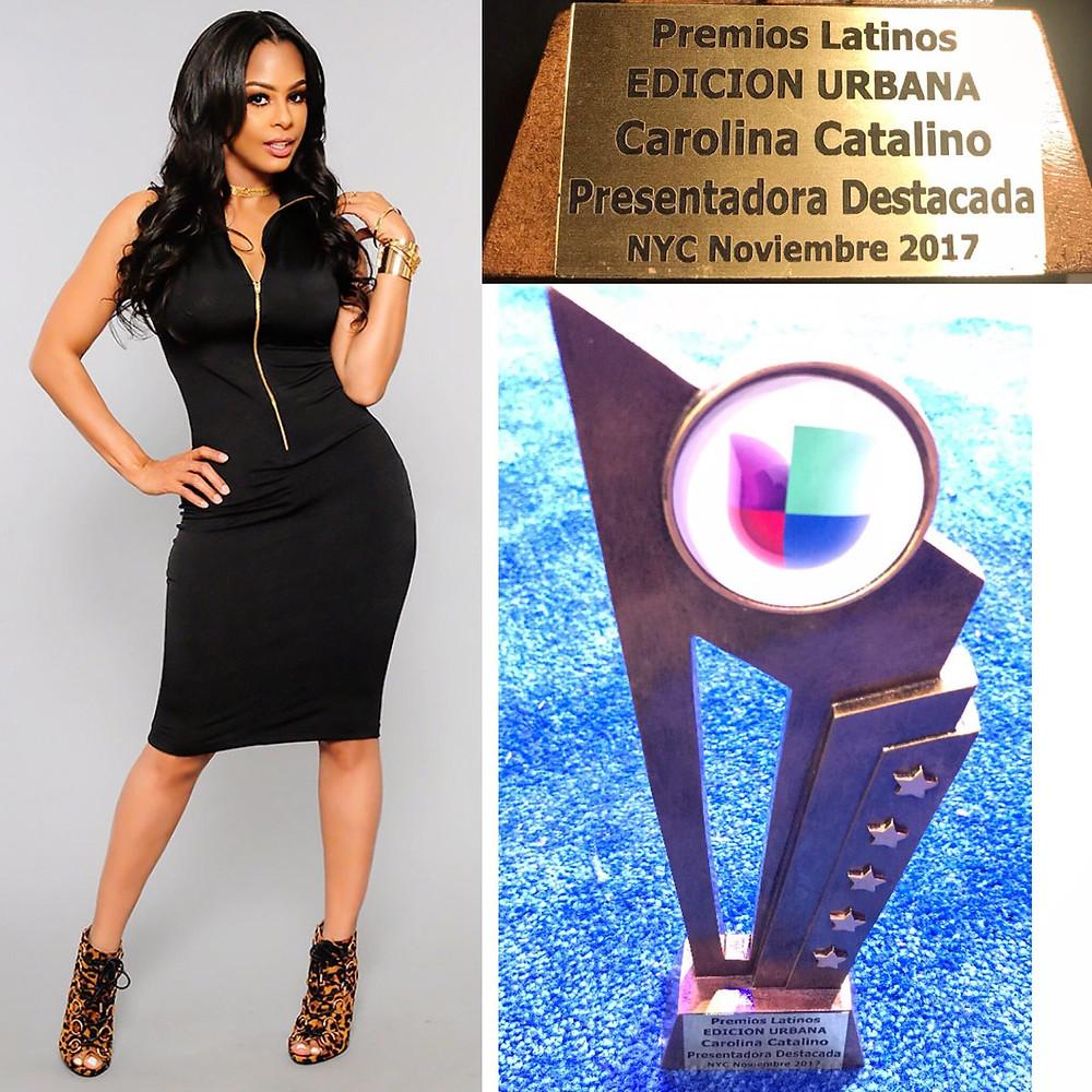 "Carolina Catalino Wins ""TV Host"" Of the Year"" Premios Urbanos NYC!!!"