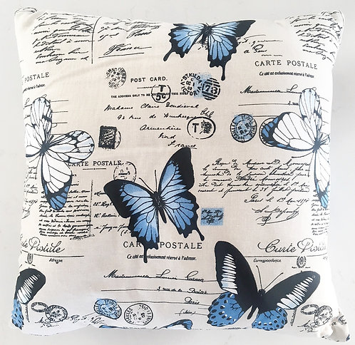 Butterfly Blue Cushion Cover