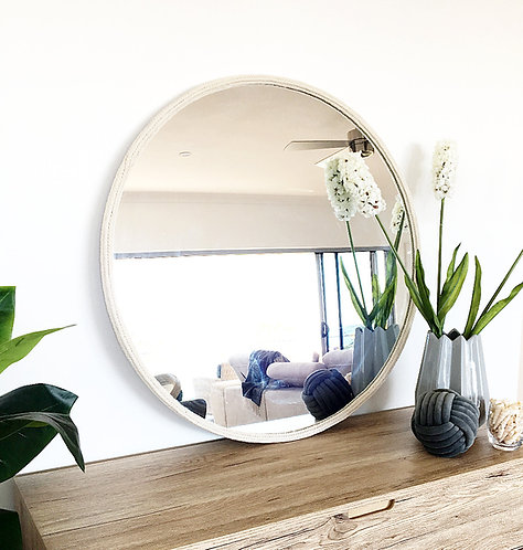 Elegant White Mirror