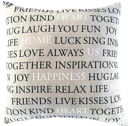 Writing Cushion Cover
