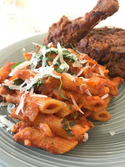 fried chicken and pasta.jpeg