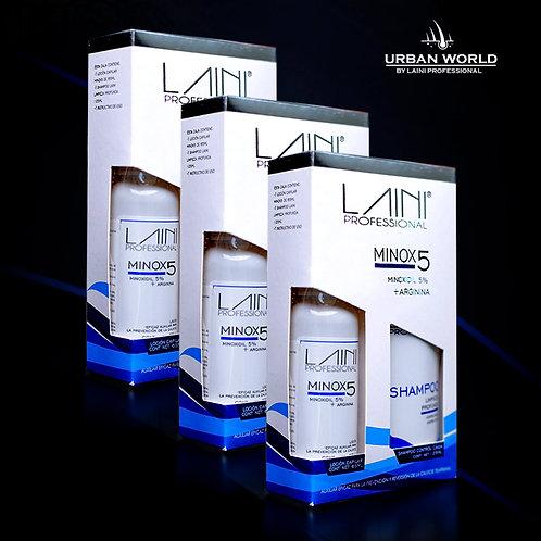 3 Kit Minox5 + Arginina (5.5 a 6 meses)