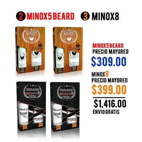 PAQ MAYOREO 2 KIT MINOX8 + 2 KIT MINOX5 BEARD