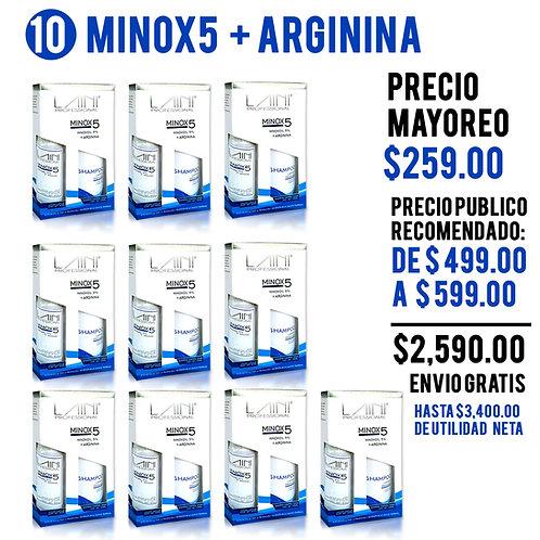 PAQ MAYOREO 10 KIT MINOX5 + ARGININA