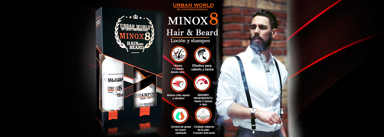 Minoxidil 8% anti caida crecimineto de barba laini professional urban world