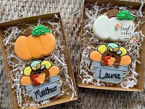 "Thanksgiving ""Thankful for"" cookie set"