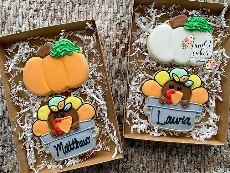 """Thanksgiving """"Thankful for"""" cookie set"""