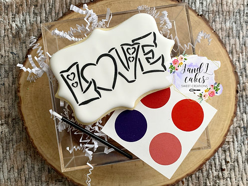 Valentine's Paint Your Own Cookie