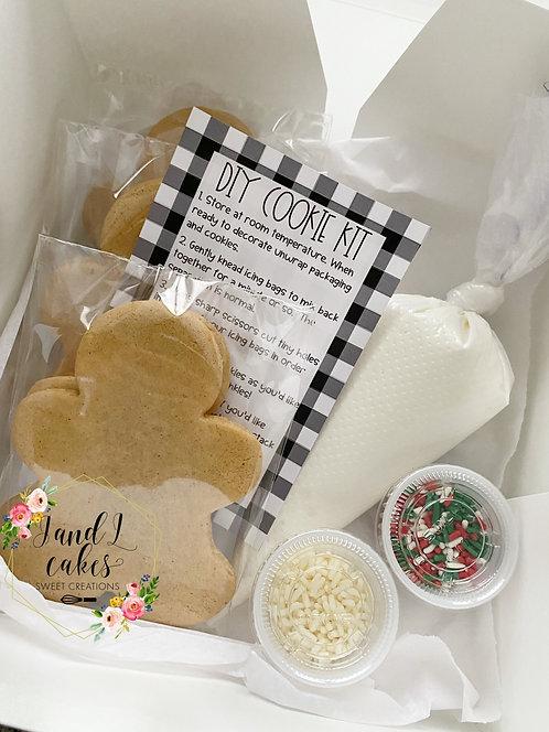 Gingerbread Men DIY Cookie kit (6 Cookies)