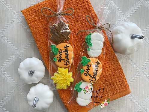 Thanksgiving Decorated Cookie Gift Sets