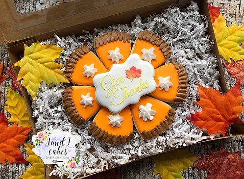 Thanksgiving Cookies Pie.