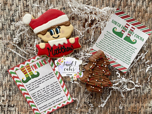 Elf on the Shelf Personalized Cookie Kit .