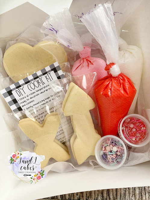 Valentine's DIY Kit 8 Cookies
