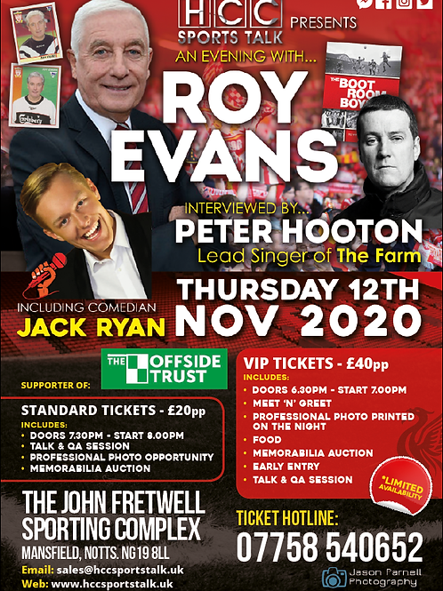 AN EVENING WITH ROY EVANS & PETER HOOTON