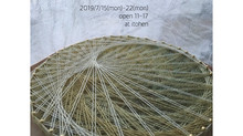 irotorizumu 「草木染めストール展~蓮ひらく頃に」&「檜の糸かけの会」