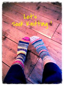 靴下を編む会 トゥアップ