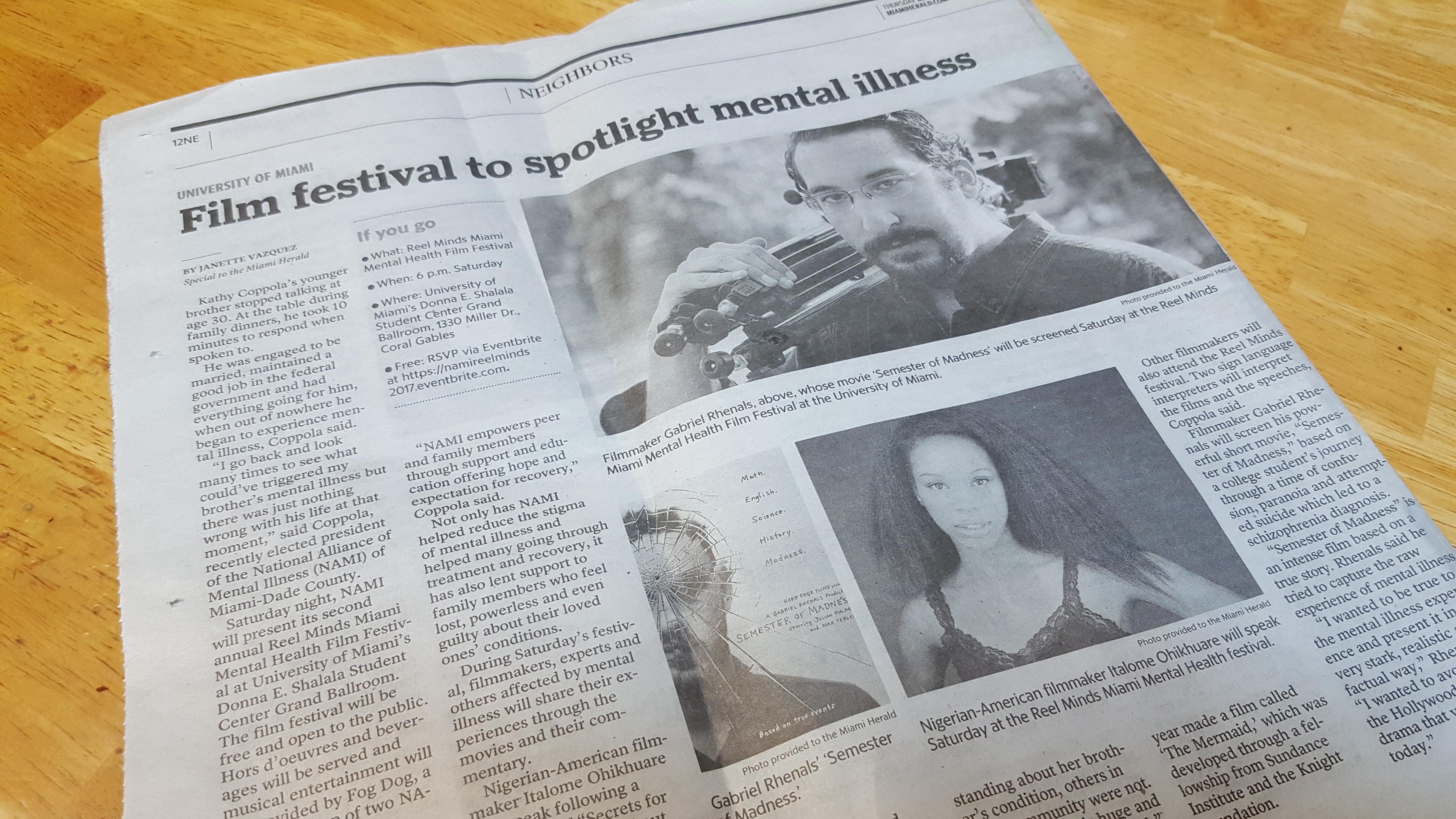 Miami Herald article!