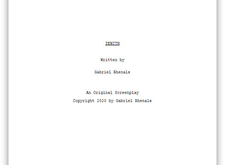 Blog Post #89: First Draft of 'Zenith' Complete!