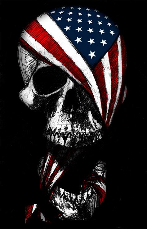 Skull and Flag