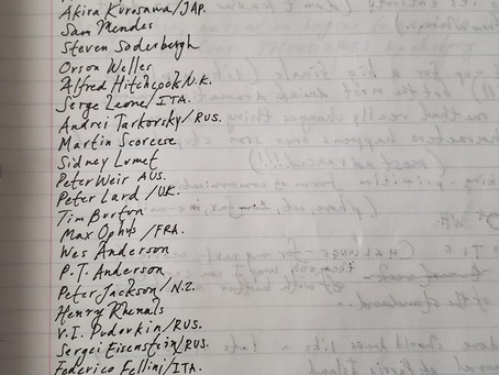 Blog Post #94: A 17-Year-Old List of Filmmakers!