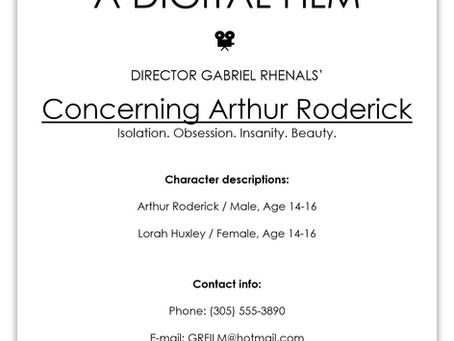 Blog Post #95: 'Concerning Arthur Roderick'!