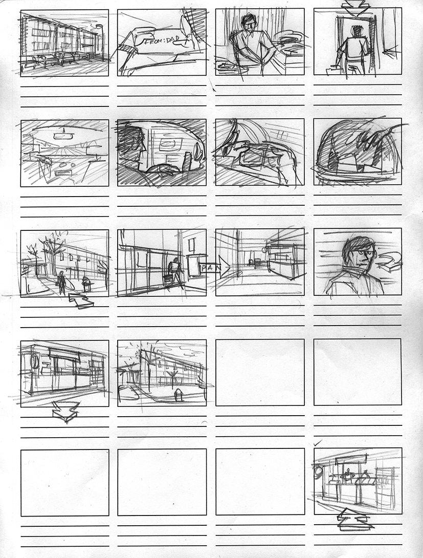 Breakfast, Lunch and Dinner (2007) - Storyboard 01