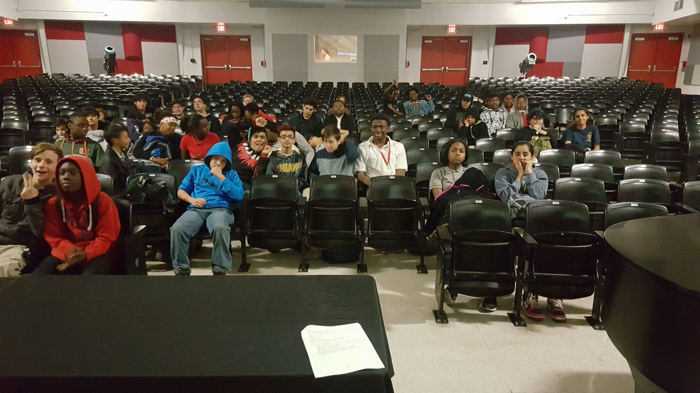 My audience of eager young minds!