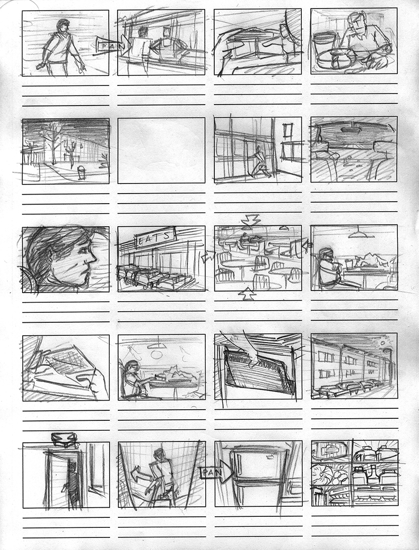 Breakfast, Lunch and Dinner (2007) - Storyboard 02