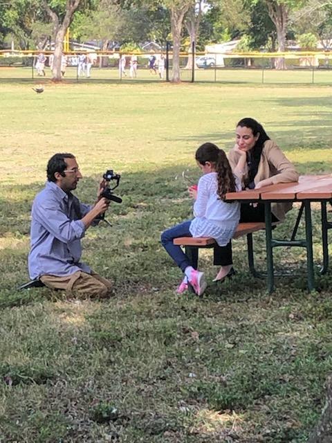 Filming at a park!