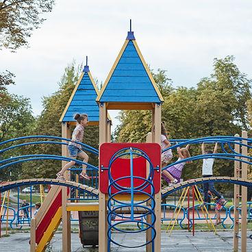 Kinderen bij Speelplaats